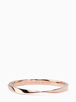 do the twist hinged bangle, rose gold, medium