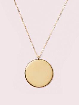 demi fine round pendant, gold, medium