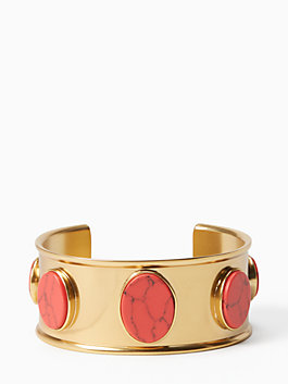 bright and bold cuff, red, medium