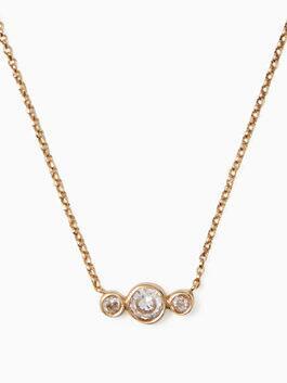 bright ideas round linear mini pendant, clear/gold, medium
