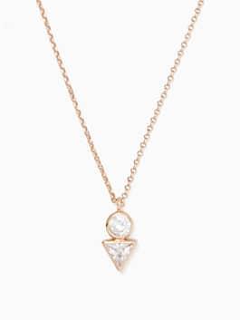 bright ideas triangle mini pendant, clear/rose gold, medium