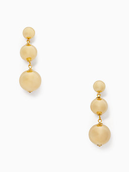 golden girl bauble drop earrings, gold, medium
