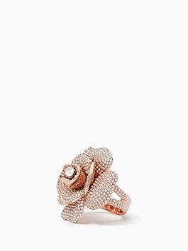 midnight rose ring, clear/rose gold, medium