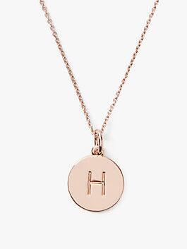 initial pendant, H, medium