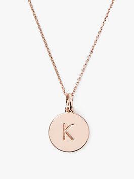 initial pendant, K, medium