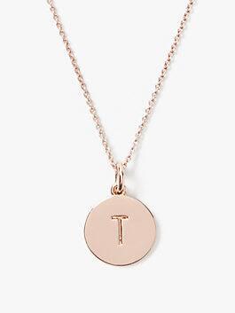 initial pendant, T, medium