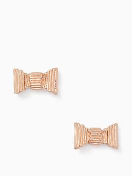 all wrapped up studs, rose gold, medium