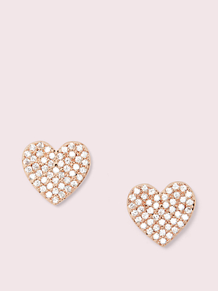 yours truly pave heart studs by kate spade new york non-hover view