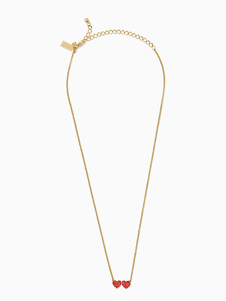 Yours truly pave heart mini pendant   Kate Spade New York