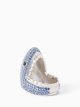 california dreaming pave shark ring, blue multi, medium