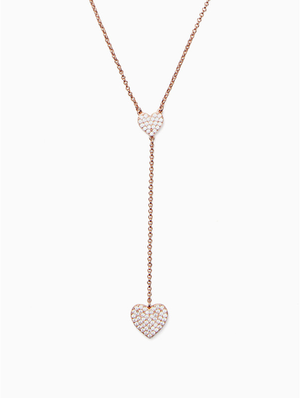 yours truly pave heart y necklace, , rr_large