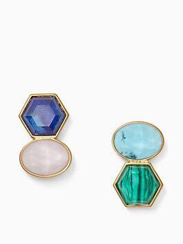 sunshine stones drop earrings, blue multi, medium