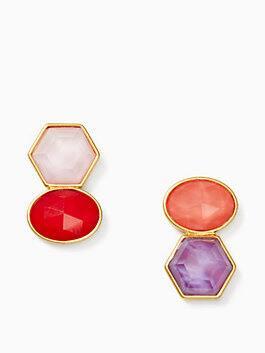 sunshine stones drop earrings, red multi, medium