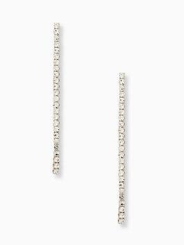 glitzville linear earrings, clear, medium