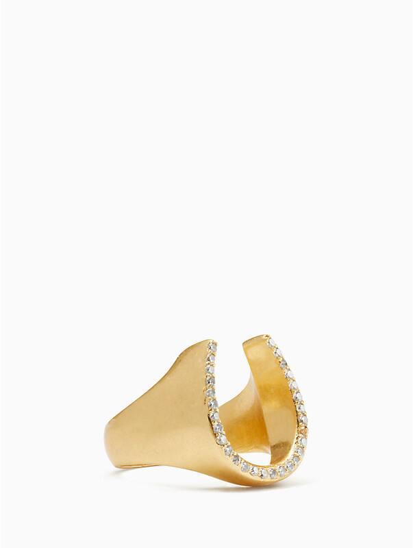 WILD ONES pave horseshoe ring, , rr_large