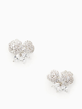 that special sparkle studs, clear/silver, medium