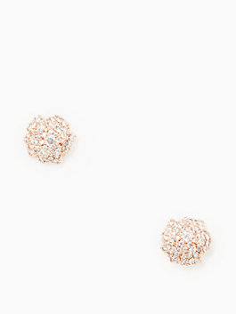 that special sparkle mini studs, clear/rose gold, medium