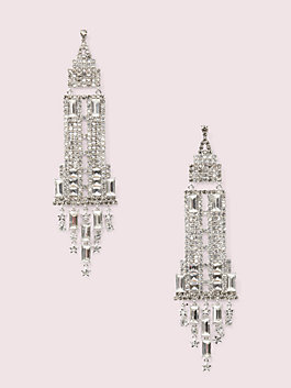 dashing beauty empire state earrings, neutral multi, medium