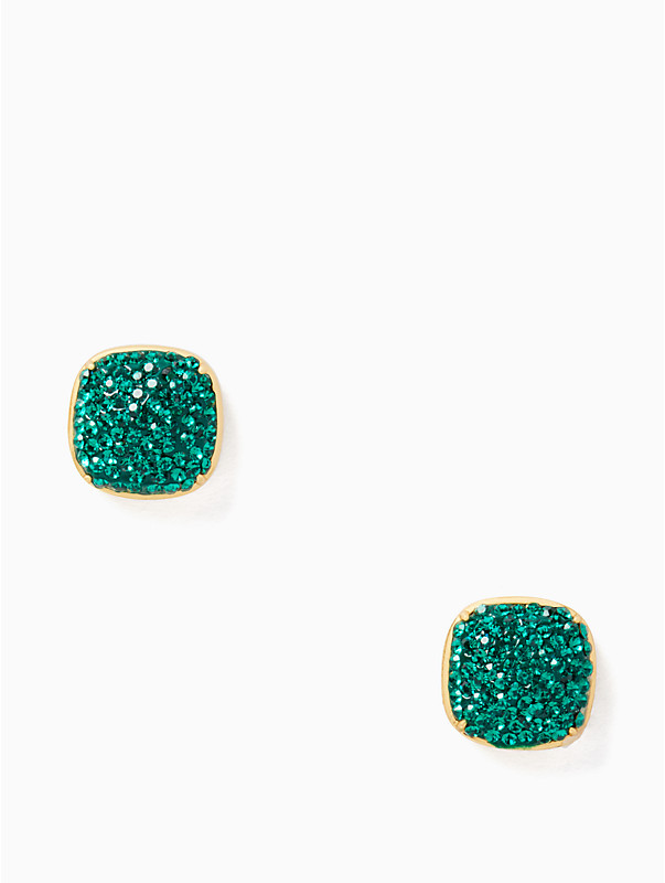 KATE SPADE EARRINGS CLAY PAVE SMALL SQUARE STUDS, , rr_large