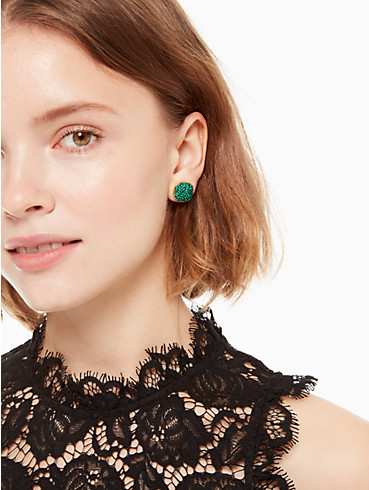 KATE SPADE EARRINGS CLAY PAVE SMALL SQUARE STUDS, , rr_productgrid