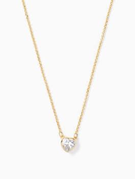 romantic rocks mini pendant, clear/gold, medium