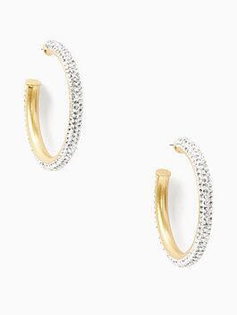 razzle dazzle hoops, clear/worn gold, medium