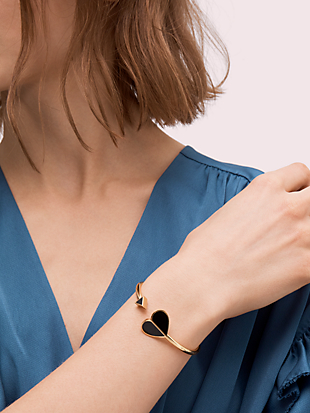 heritage spade enamel flex cuff by kate spade new york hover view