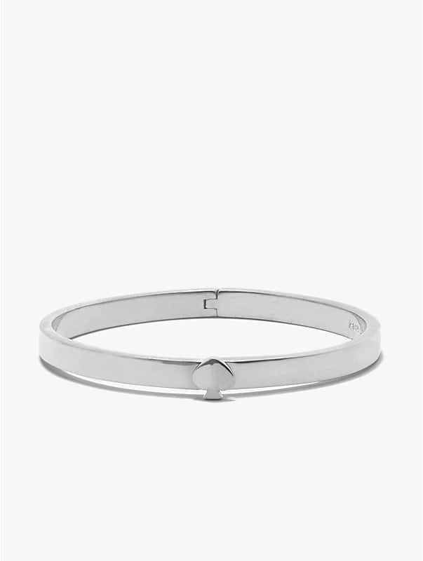 heritage spade thin metal button bangle, , rr_large