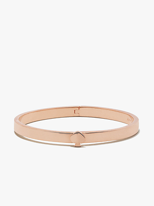 heritage spade thin metal button bangle by kate spade new york non-hover view