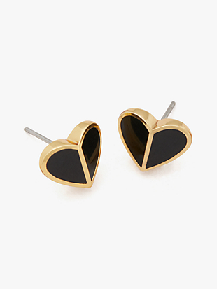 heritage spade small heart studs by kate spade new york non-hover view