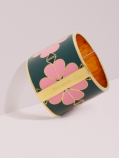 heritage spade wide floral enamel bangle by kate spade new york