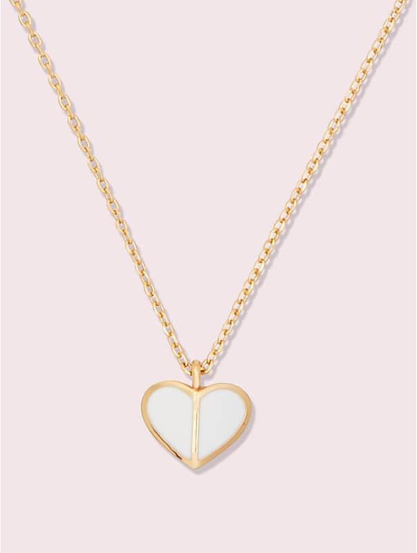 heritage spade enamel heart mini pendant, , rr_large