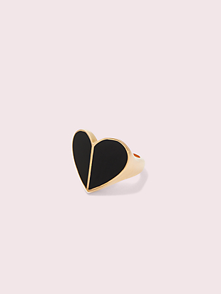 heritage spade enamel heart ring by kate spade new york non-hover view