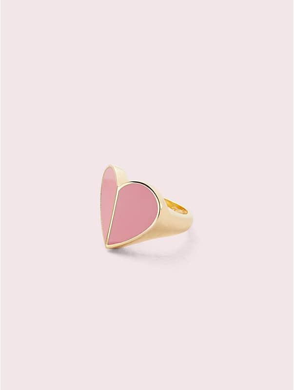 heritage spade enamel heart ring, , rr_large