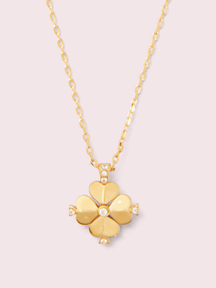 legacy logo spade flower mini pendant by kate spade new york non-hover view