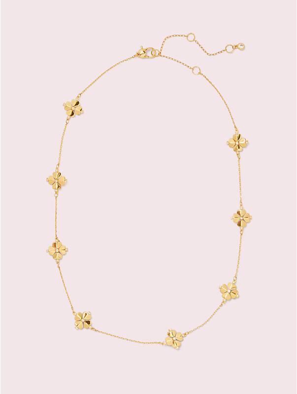 legacy logo spade flower necklace, , rr_large