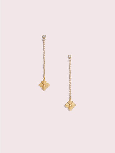 legacy logo spade flower linear earrings, , rr_productgrid