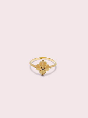 legacy logo spade flower ring by kate spade new york non-hover view