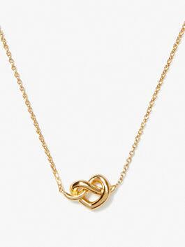loves me knot mini pendant, gold, medium