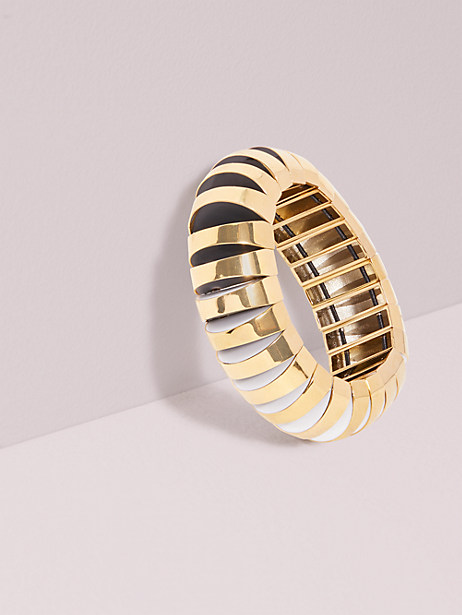 Sliced scallops large metal stretch bracelet | Kate Spade New York