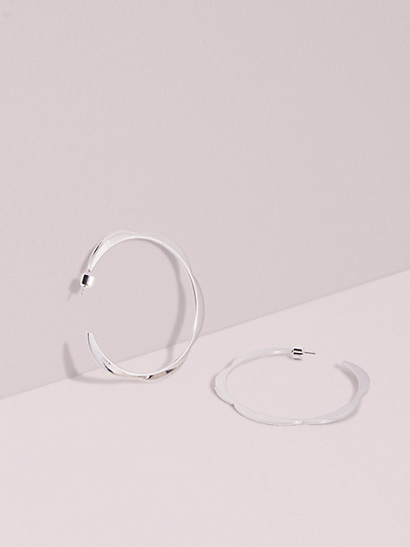 sliced scallops large hoops by kate spade new york