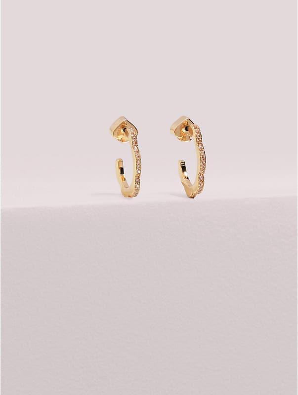 slender scallops mini pavé hoops , , rr_large