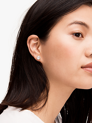 that sparkle round earrings by kate spade new york hover view