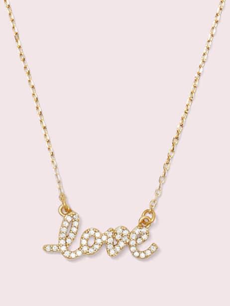 "say yes ""love"" pavé mini pendant by kate spade new york"