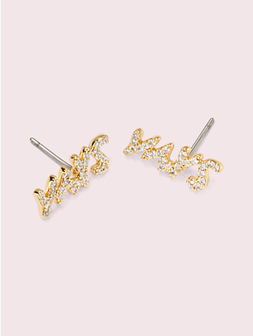 "say yes ""mrs."" pavé studs , , rr_productgrid"
