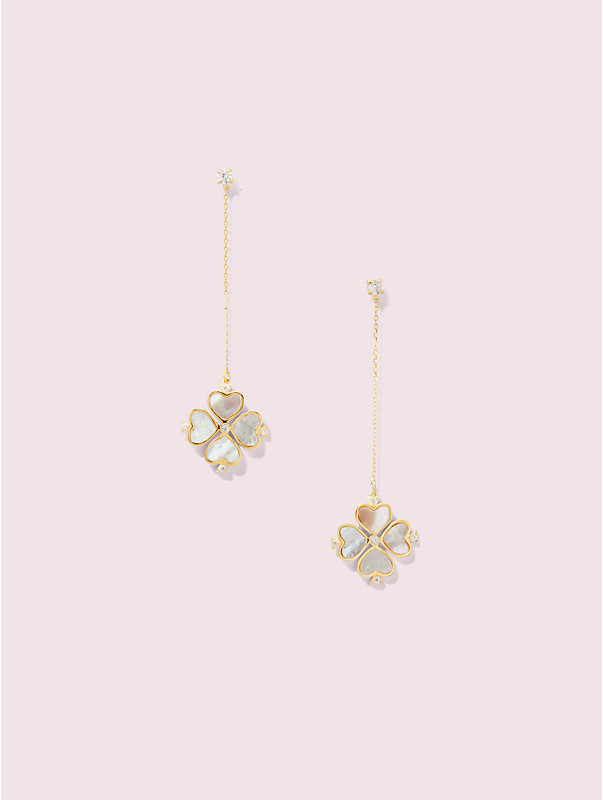 legacy logo spade flower linear earrings, , rr_large