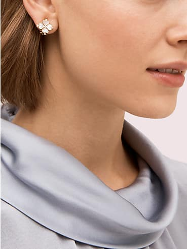legacy logo spade flower clip-on studs, , rr_productgrid