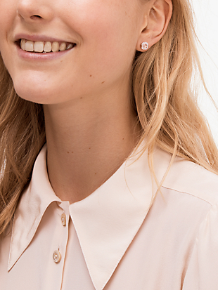 that sparkle princess cut studs by kate spade new york hover view