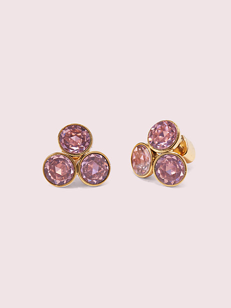 reflecting pool small cluster studs, pink, large by kate spade new york