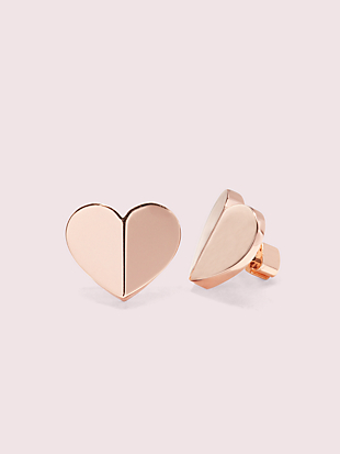heritage spade heart statement studs by kate spade new york non-hover view
